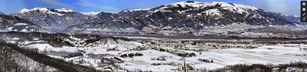 Multimedia Bazan Fotografia Panoramica - Paesaggio dalla Rocca di Cornuda